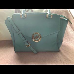 COPY - Michael Kors Hudson Aqua Marine Satchel Bag
